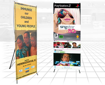giant x banner display stand